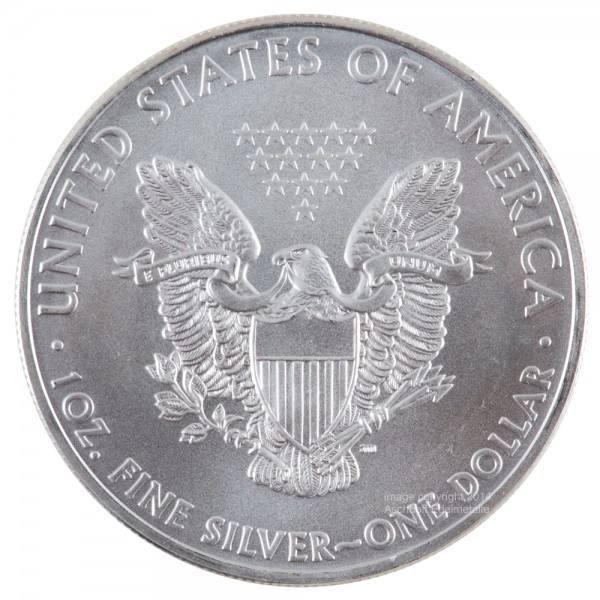Ankauf: American Eagle, Silbermünze 1 Unze (oz), diverse Jahrgänge