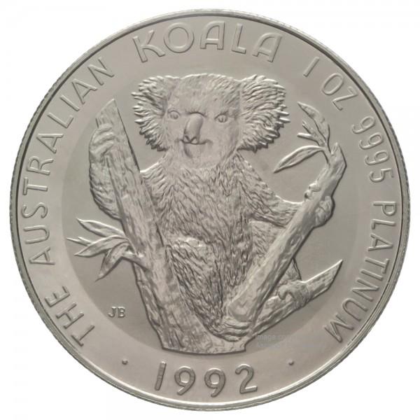 Australian Koala 1992, Platinmünze 1 Unze (oz)