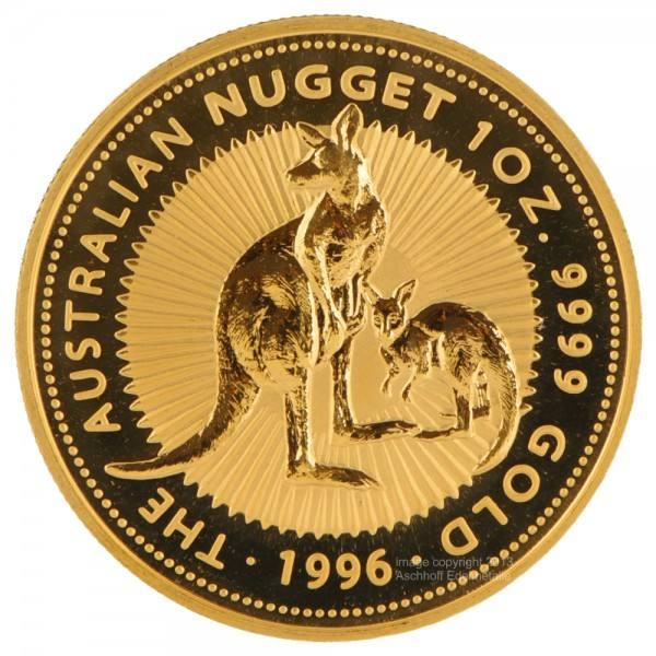Ankauf: Australian Nugget (Kangaroo) 1996, Goldmünze 1 Unze (oz)