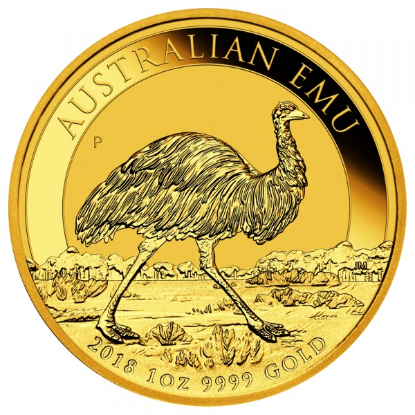 Ankauf: Australian Emu 2018, Goldmünze 1 Unze (oz)