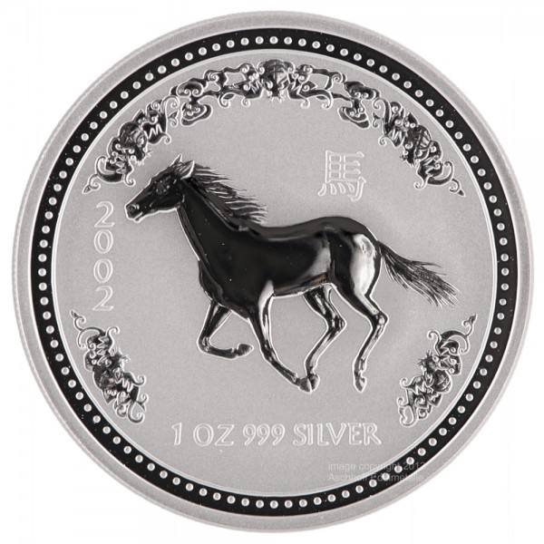 Ankauf: Lunar I 2002 Pferd, Silbermünze 1 Unze (oz)