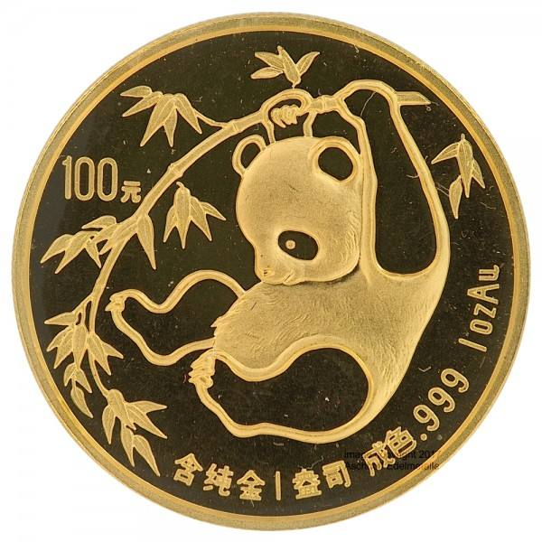 Ankauf: China Panda 1985, Goldmünze 1 Unze (oz)