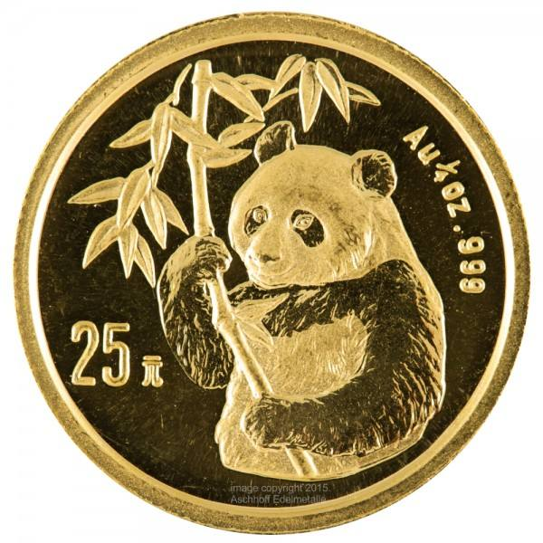 Ankauf: China Panda 1995, Goldmünze 1/4 Unze (oz)