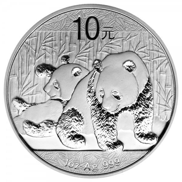 Ankauf: China Panda 2010, Silbermünze 1 Unze (oz)