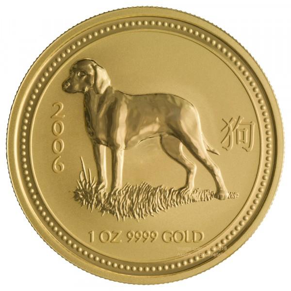 Lunar I 2006 Hund, Goldmünze 1 Unze (oz)