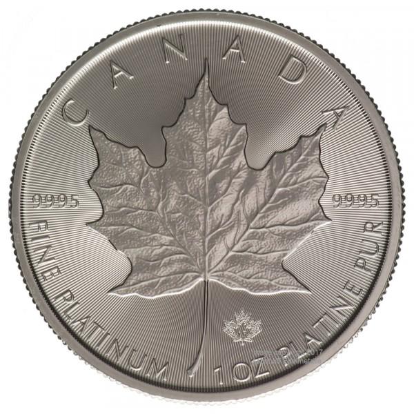 Ankauf: Maple Leaf, Platinmünze 1 Unze (oz), diverse Jahrgänge