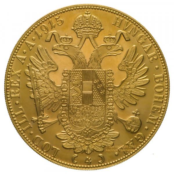 Ankauf: Österreich 4 Dukat, Goldmünze 13,77g fein, diverse Jahrgänge