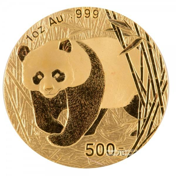 Ankauf: China Panda 2002, Goldmünze 1 Unze (oz)