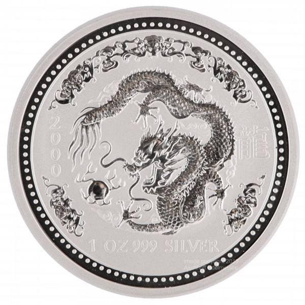 Ankauf: Lunar I 2000 Drache, Silbermünze 1 Unze (oz)