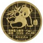 Ankauf: China Panda 1989, Goldmünze 1/4 Unze (oz)