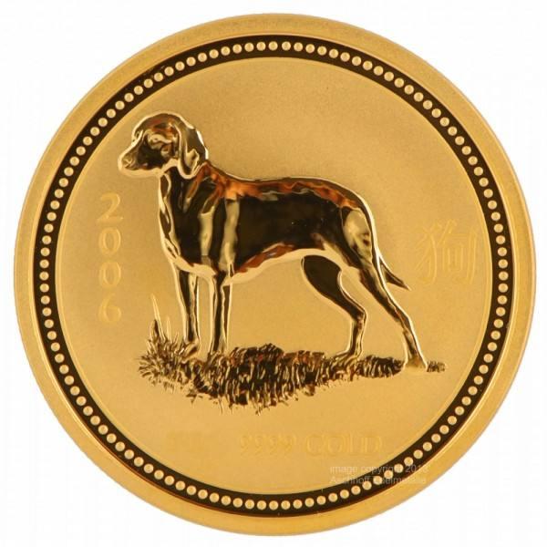 Ankauf: Lunar I 2006 Hund, Goldmünze 10 Unzen (oz)