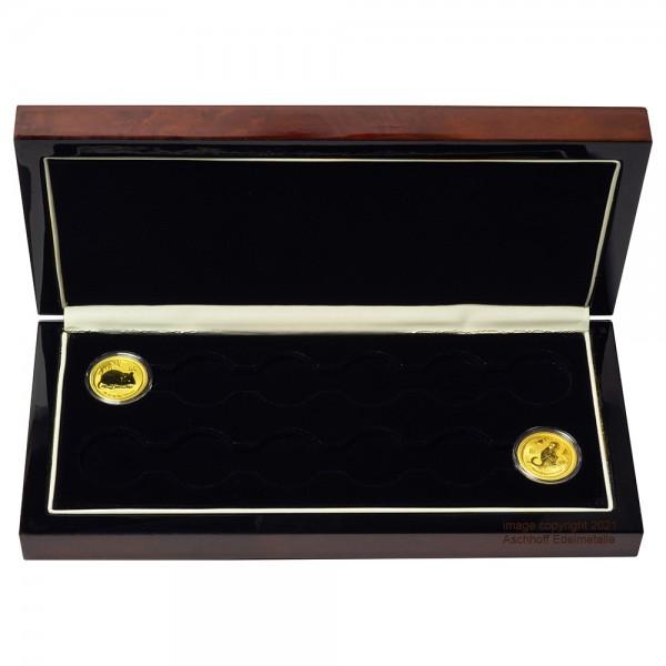 Edle Münzbox für 12 x 1/4 oz Gold Lunar II