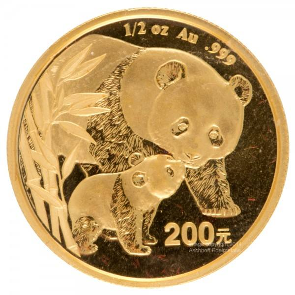 Ankauf: China Panda 2004, Goldmünze 1/2 Unze (oz)
