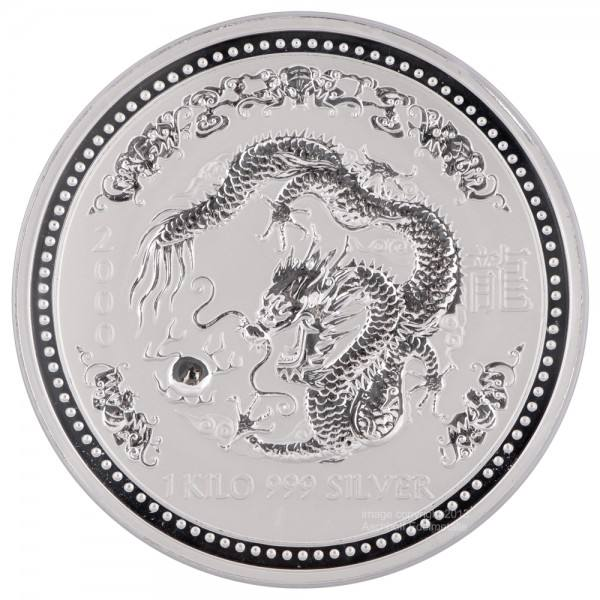 Ankauf: Lunar I 2000 Drache, Silbermünze 1 kg