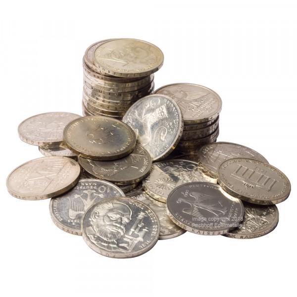 Ankauf: 10 DM Gedenkmünze, Silbermünze 9,69 g fein, diverse Jahrgänge