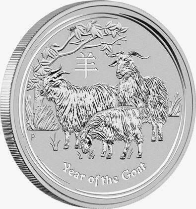 Ankauf: Lunar II 2015 Ziege, Silbermünze 10 Unzen (oz)