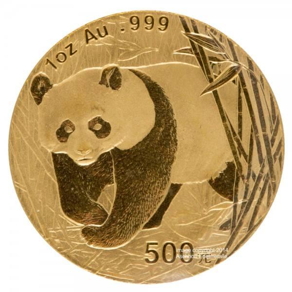 Ankauf: China Panda 2001, Goldmünze 1 Unze (oz)
