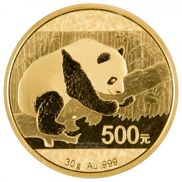 Ankauf: China Panda 2016, Goldmünze 30 Gramm (g)