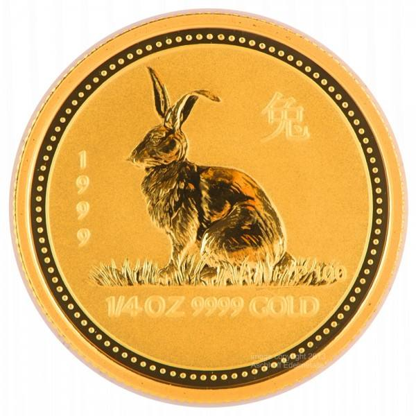 Ankauf: Lunar I 1999 Hase, Goldmünze 1/4 Unze (oz)