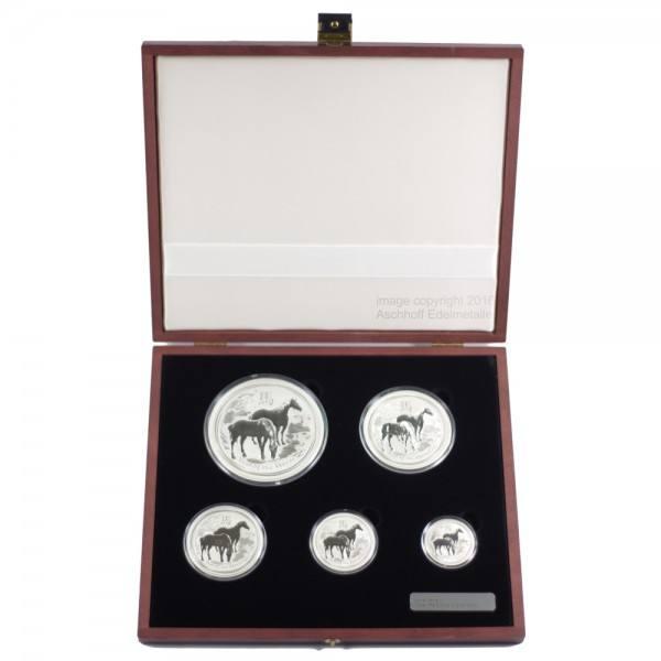 Lunar II 2014 Pferd, Silbermünzen 0,5 - 10 Unzen (oz) Typeset
