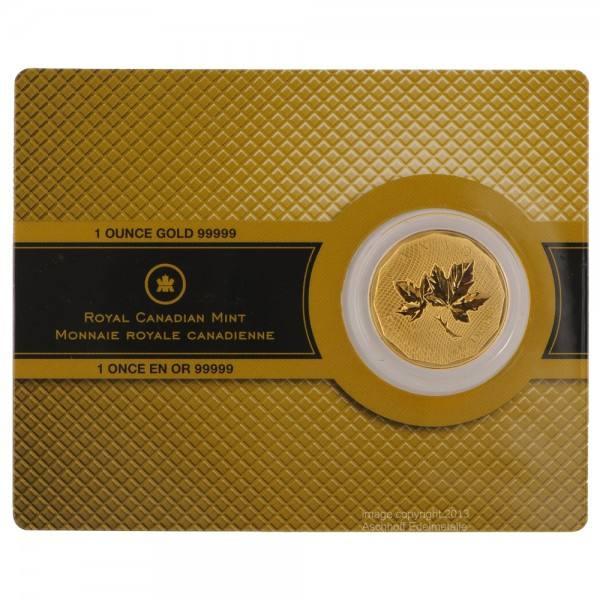 Ankauf: Maple Leaf 2008, Goldmünze 1 Unze (oz), Sonderprägung