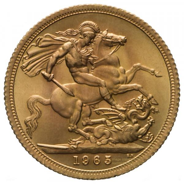 Ankauf: Full Sovereign, Goldmünze 7,32g fein, diverse Jahrgänge
