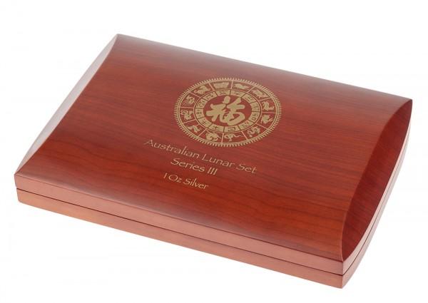 Münzbox für Lunar III Serie 12 x 1 Unze (oz) Silbermünzen
