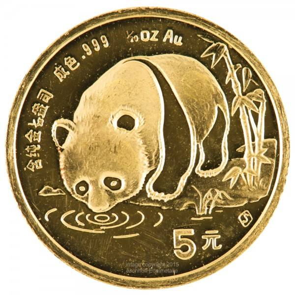 Ankauf: China Panda 1987, Goldmünze 1/20 Unze (oz)
