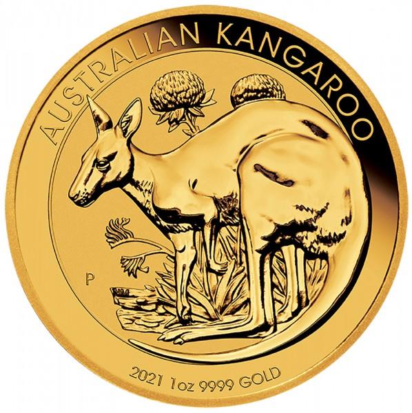 Australian Kangaroo (Nugget) 2021, Goldmünze 1 Unze (oz)
