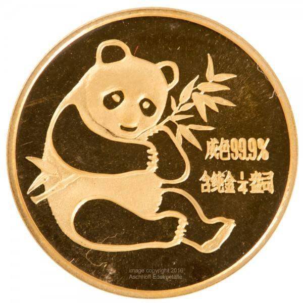 Ankauf: China Panda 1982, Goldmünze 1/4 Unze (oz)