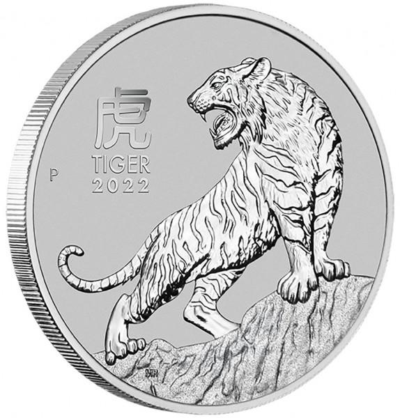 Lunar III 2022 Tiger, Platinmünze 1 Unze (oz)