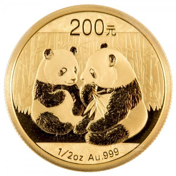 Ankauf: China Panda 2009, Goldmünze 1/2 Unze (oz)