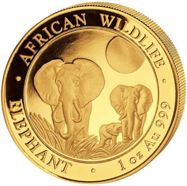 Ankauf: Somalia Elephant 2014, Goldmünze 1 Unze (oz)