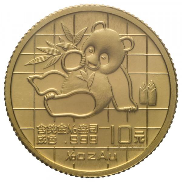 Ankauf: China Panda 1989, Goldmünze 1/10 Unze (oz)