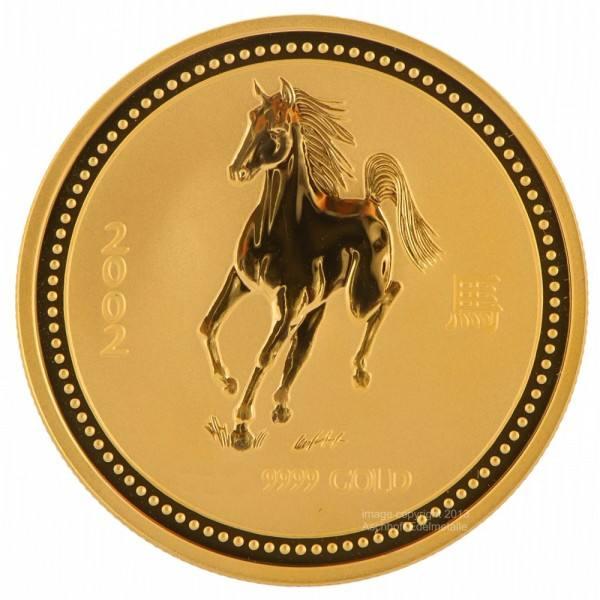 Ankauf: Lunar I 2002 Pferd, Goldmünze 1 Kilo (kg)