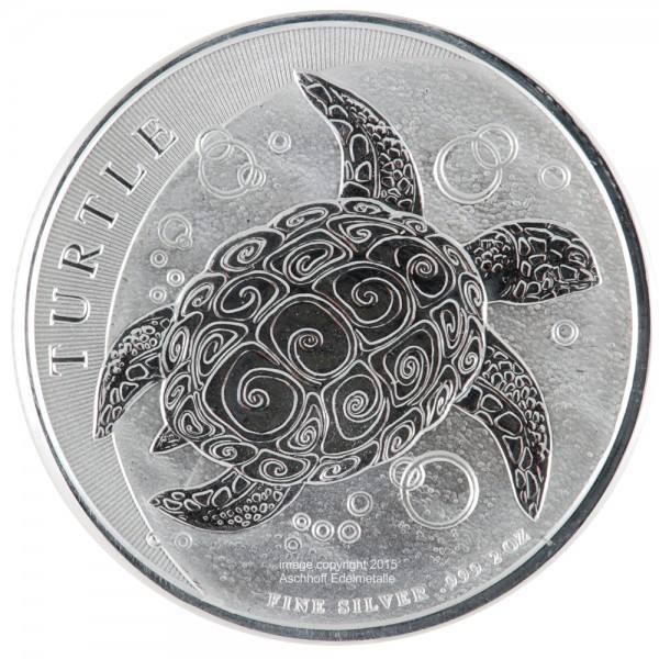 Niue Turtle 2015, Silbermünze 2 Unzen (oz)