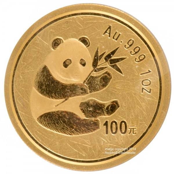 Ankauf: China Panda 2000, Goldmünze 1 Unze (oz)