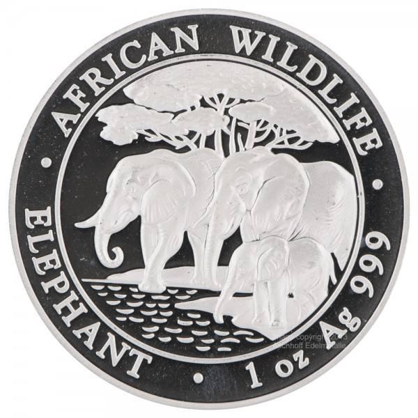 Ankauf: Somalia Elephant 2013, Silbermünze 1 Unze (oz)