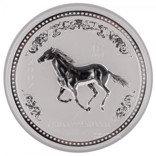 Ankauf: Lunar I 2002 Pferd, Silbermünze 1 kg
