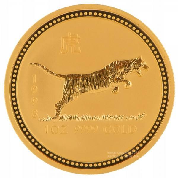 Ankauf: Lunar I 1998 Tiger, Goldmünze 1 Unze (oz)