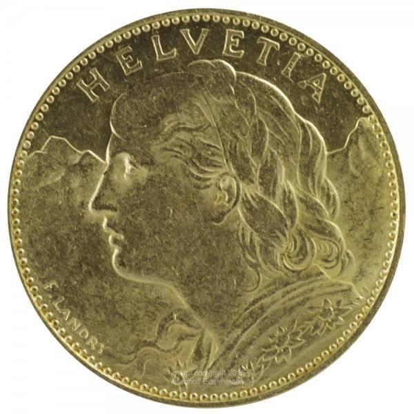 Vreneli Jahr 1911 Goldmünze 10 SFr