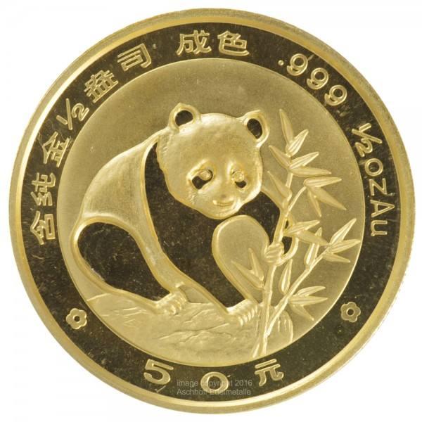 Ankauf: China Panda 1988, Goldmünze 1/2 Unze (oz)