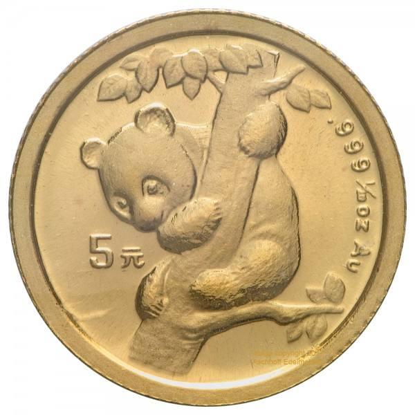 Ankauf: China Panda 1996, Goldmünze 1/20 Unze (oz)