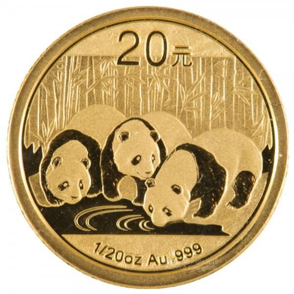 Ankauf: China Panda 2013, Goldmünze 1/20 Unze (oz)