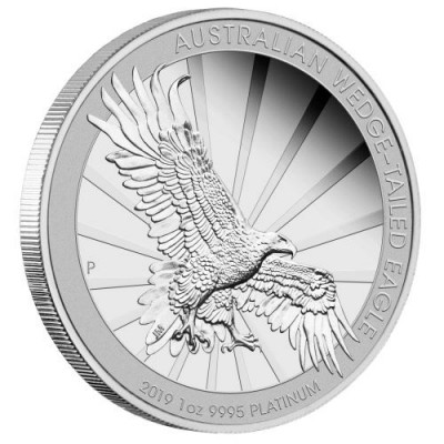 Ankauf: Australian Wedge-Tailed Eagle, Platinmünze 1 Unze (oz), PP, diverse Jahrgänge