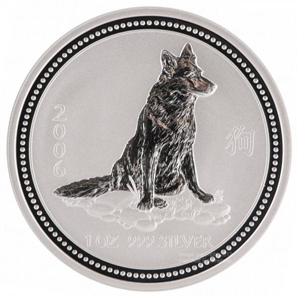 Ankauf: Lunar I 2006 Hund, Silbermünze 1 Unze (oz)