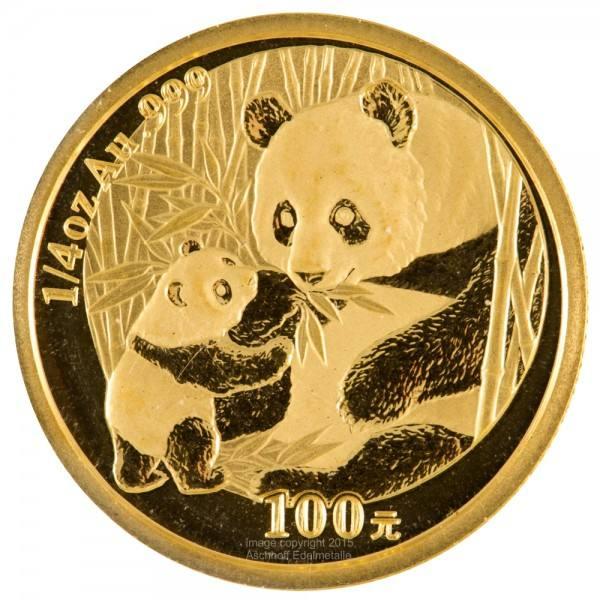 China Panda 2005, Goldmünze 1/4 Unze (oz) Original-Folie