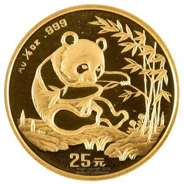 Ankauf: China Panda 1994, Goldmünze 1/4 Unze (oz)