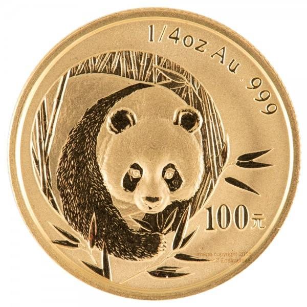 China Panda 2003, Goldmünze 1/4 Unze (oz) Original-Folie