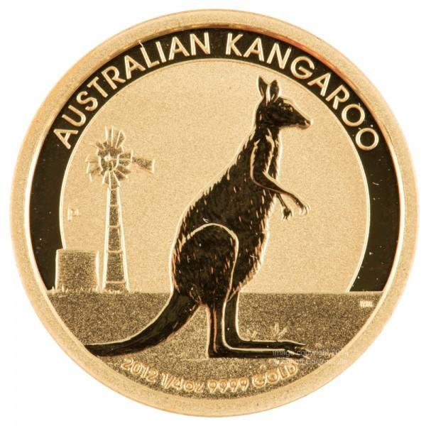 Ankauf: Australian Kangaroo (Nugget), Goldmünze 1/4 Unze, diverse Jahrgänge